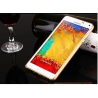 Металлический бампер для Samsung Galaxy A3 Бежевый