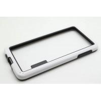 Силиконовый бампер двухцветный для Samsung Galaxy A3 Белый