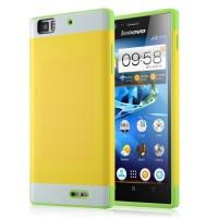 Двуцветный чехол для Lenovo K900 IdeaPhone серии DualColor Желтый