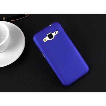 Пластиковый матовый непрозрачный чехол металик для Samsung Galaxy Core Prime