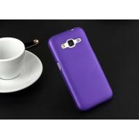 Пластиковый матовый непрозрачный чехол металик для Samsung Galaxy Core Prime Фиолетовый