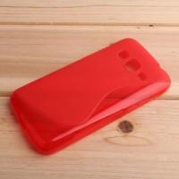 Силиконовый S чехол для Samsung Galaxy Core Prime Красный