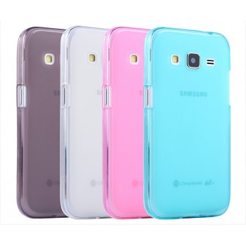 Силиконовый матовый полупрозрачный чехол для Samsung Galaxy Core Prime
