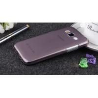 Силиконовый матовый полупрозрачный чехол для Samsung Galaxy Core Prime Черный