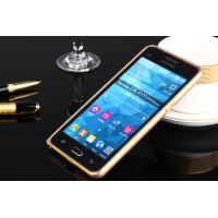 Металлический бампер для Samsung Galaxy Grand Prime Бежевый