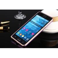 Металлический бампер для Samsung Galaxy Grand Prime Пурпурный
