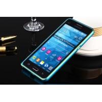 Металлический бампер для Samsung Galaxy Grand Prime Голубой