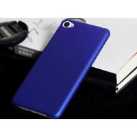 Пластиковый матовый непрозрачный чехол для Lenovo S90 Синий