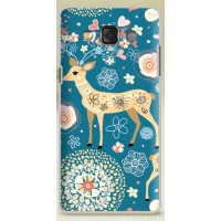 Пластиковый матовый дизайнерский чехол с принтом для Samsung Galaxy A5