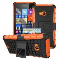 Силиконовый чехол экстрим защита для Microsoft Lumia 535 Оранжевый