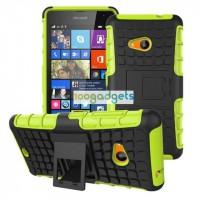 Силиконовый чехол экстрим защита для Microsoft Lumia 535 Зеленый