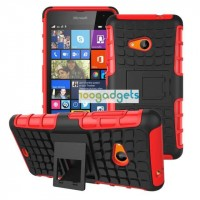 Силиконовый чехол экстрим защита для Microsoft Lumia 535 Красный
