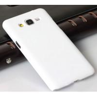 Пластиковый матовый непрозрачный чехол для Samsung Galaxy Grand Prime Белый
