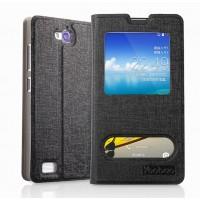 Чехол-книжка с окошком и свайпом для Huawei Honor 3c Черный