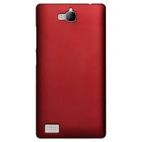 Пластиковый чехол Metallic для Huawei Honor 3c Красный