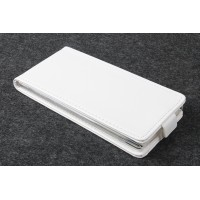 Чехол вертикальная книжка на пластиковой основе с магнитной застежкой для Prestigio Grace Белый