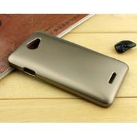 Пластиковый металлик чехол для HTC Desire 516 Бежевый