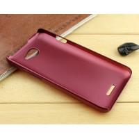 Пластиковый металлик чехол для HTC Desire 516 Пурпурный