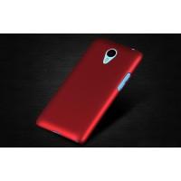 Пластиковый матовый непрозрачный чехол для Meizu M1 Note Красный