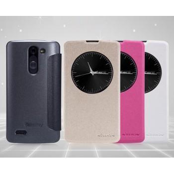 Чехол смарт флип с окном вызова серия Colors для LG L Bello