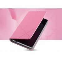 Чехол флип-подставка серии Cross lines для Huawei Honor 3c Розовый