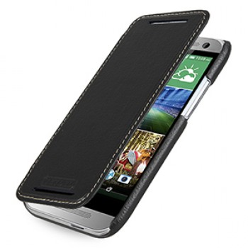 Кожаный чехол горизонтальная книжка (нат. кожа) для HTC One mini 2
