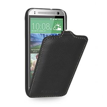 Кожаный чехол вертикальная книжка (нат. кожа) для HTC One mini 2
