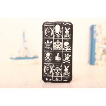 Силиконовый матовый дизайнерский чехол с принтом для HTC Desire 610
