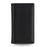 Эксклюзивный кожаный чехол портмоне (премиум нат. вощеная кожа) на кожаной основе для Nokia Lumia 930 Черный