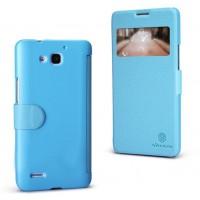 Чехол-флип с окном вызова серии ColorBurst для Huawei Honor 3x Голубой