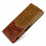 Эксклюзивный кожаный чехол вертикальная книжка (премиум нат. кожа двух видов ручного пошива) для Sony Xperia Z3