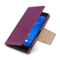 Эксклюзивный кожаный чехол портмоне подставка (премиум нат. кожа) на кожаной основе с усиленной магнитной защелкой для Sony Xperia Z3