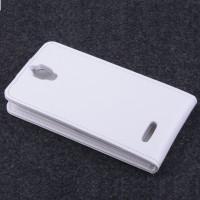 Чехол вертикальная книжка с магнитной застежкой для Alcatel One Touch Idol 2 mini Белый
