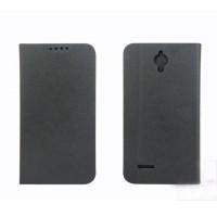 Текстурный чехол флип подставка с застежкой и внутренними карманами для Alcatel One Touch Idol 2 mini
