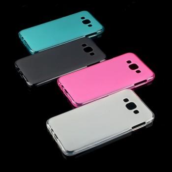 Силиконовый матовый полупрозрачный чехол для Samsung Galaxy E7