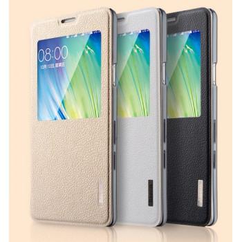 Чехол смарт флип подставка с прозрачным основанием и окном вызова для Samsung Galaxy A7