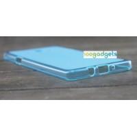 Силиконовый матовый полупрозрачный чехол для Samsung Galaxy A7 Голубой