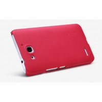 Премиум матовый пластиковый чехол для Huawei Honor 3x Пурпурный