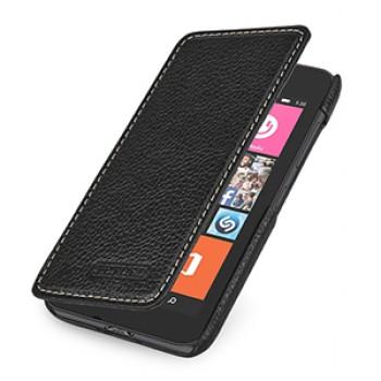 Кожаный чехол горизонтальная книжка (нат. кожа) для Nokia Lumia 530 (изготовление на заказ)