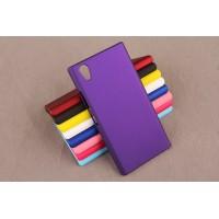Пластиковый матовый непрозрачный чехол для Lenovo P70 Фиолетовый