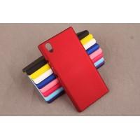 Пластиковый матовый непрозрачный чехол для Lenovo P70 Красный