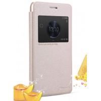 Чехол флип на пластиковой основе с магнитной застежкой серия Colors для Huawei Honor 6 Plus Бежевый