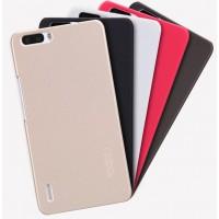 Пластиковый матовый нескользящий премиум чехол для Huawei Honor 6 Plus