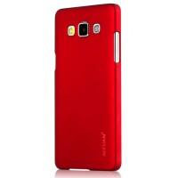 Пластиковый матовый металлик чехол для Samsung Galaxy A7 Красный