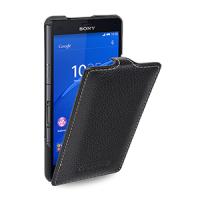 Кожаный чехол вертикальная книжка (нат. кожа) для Sony Xperia Z3 Compact