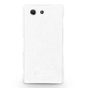 Кожаный чехол накладка (нат. кожа) серия Back Cover для Sony Xperia Z3 Compact