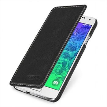 Кожаный чехол горизонтальная книжка (нат. кожа) для Samsung Galaxy Alpha