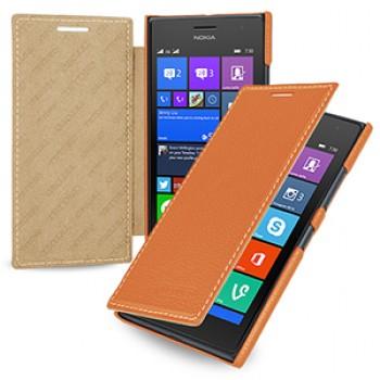 Кожаный чехол горизонтальная книжка (нат. кожа) для Nokia Lumia 730/735