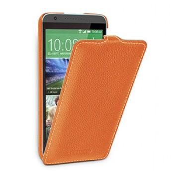 Кожаный чехол вертикальная книжка (нат. кожа) для HTC Desire 820