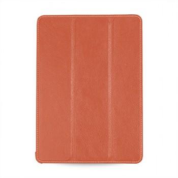 Эксклюзивный кожаный сегментарный смарт-чехол подставка (нат. кожа) для Ipad Air 2